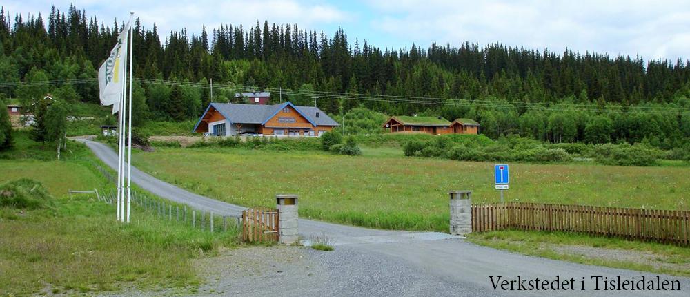 Bilde av verkstedet til Valdres Hytter i Tisleidalen